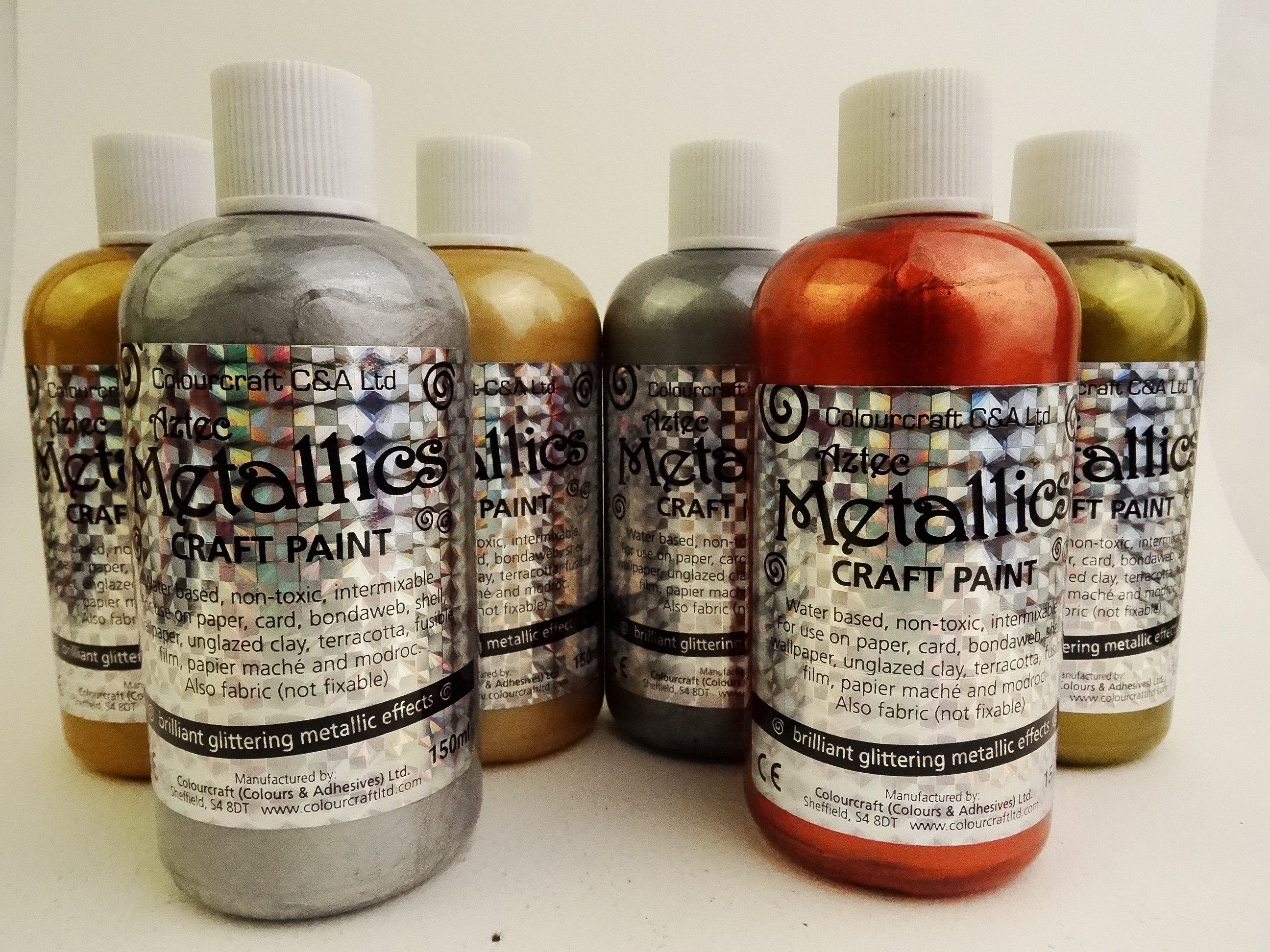 Aztec Eco Metallic Paint Starter Pack - 6 x 150ml